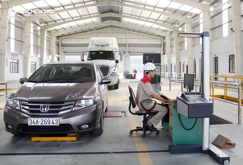 Quy trình đăng kiểm xe ô tô gồm 5 công đoạn