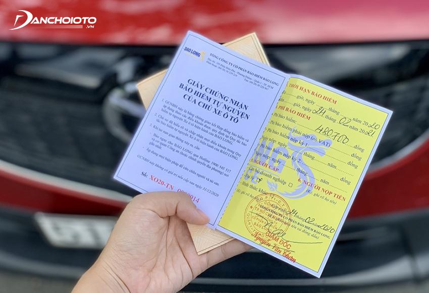 Sau khi hoàn tất các bước đăng ký xe ô tô mới trên, chủ xe cần phải mua bảo hiểm trách nhiệm dân sự cho xe