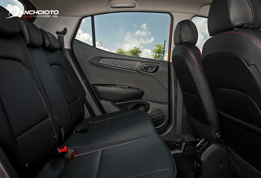 Hàng ghế sau Hyundai i10 2021
