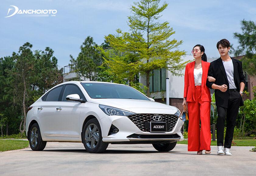 Nói đến xe ô tô gia đình 5 chỗ tầm giá 500 triệu đồng thì không thể bỏ qua Hyundai Accent