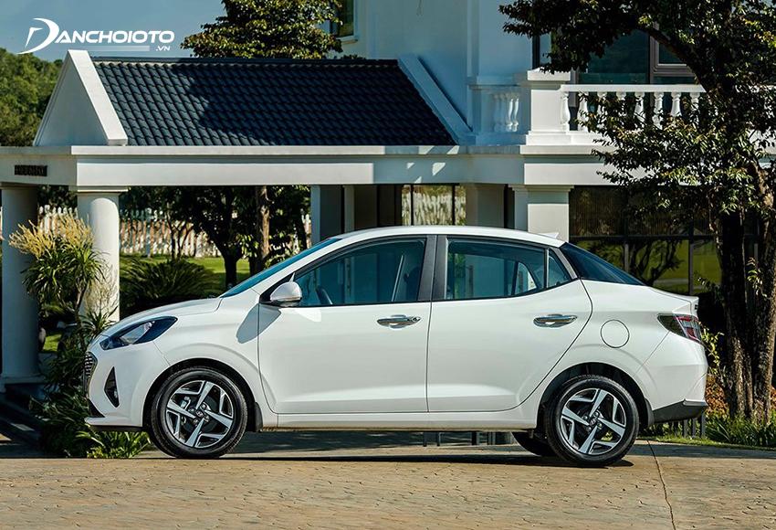 Thân xe Hyundai i10 2021 sedan