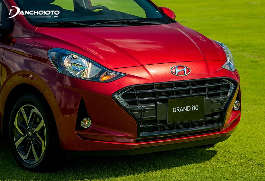 Thiết kế đầu xe Hyundai i10 2021 hatchback