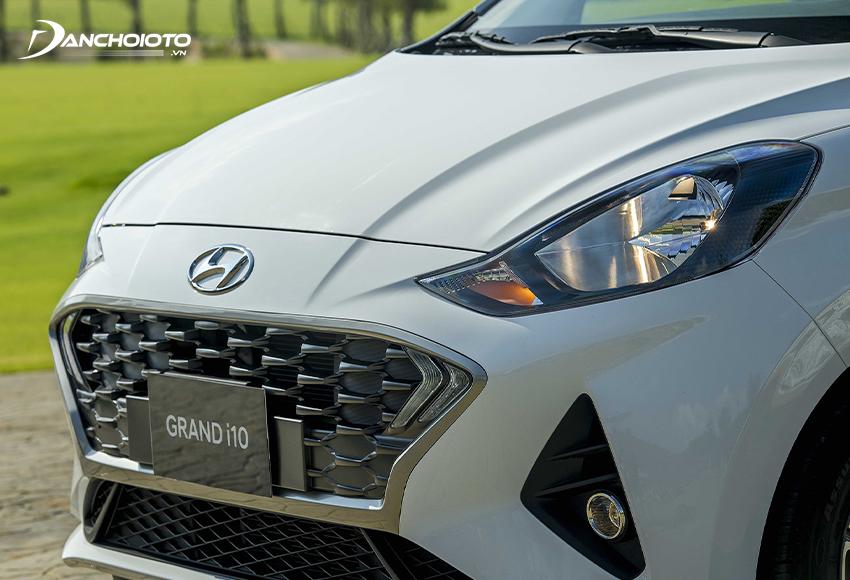 Thiết kế đầu xe Hyundai i10 2021 sedan