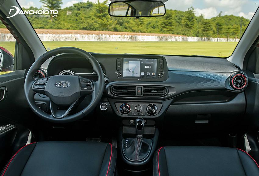Thiết kế nội thất Hyundai Grand i10 2021 trẻ trung và cho cảm giác sang trọng hơn