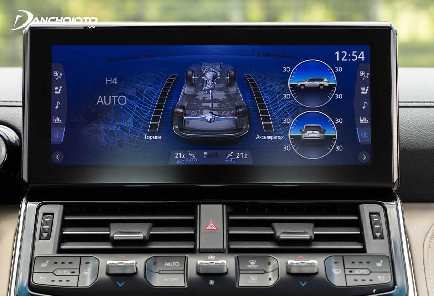 Toyota Land Cruiser 2021 được nâng cấp màn hình trung tâm 12.3 inch kiểu nổi